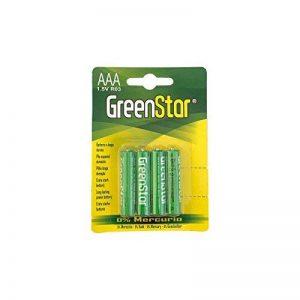 Green Star 4Pack AAA 1,5V piles r03, extra forte et sans mercure. Convient pour lampes de poche, télécommandes, lecteur MP3, appareil photo, jouets et autre Accessoire de électronique. de la marque Greenstar image 0 produit