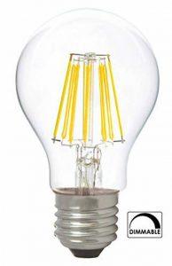 greenandco® IRC 90+ Ampoule à Filament LED graduable E27 8W (équivalent 54W) 710lm 2700K (blanc chaud) 360° 230V Verre, aucun scintillement de la marque greenandco image 0 produit