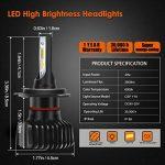 GreenClick 2*H4/ H7 Seoul-CSP LED phares Voiture Ampoules Etanche IP65 Car Headlight LED Véhicule Blanc Pur 6000-6500K Tout-en-un kit de conversion. (S1 plus, H7) de la marque Greenclick image 1 produit