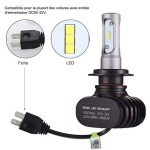 GreenClick 2*H7 Seoul-CSP LED phares Voiture Ampoules,Etanche IP65, 50W 8000LM,Car Headlight LED Véhicule Blanc Pur 6500K Tout-en-un kit de conversion.(H7) de la marque Greenclick image 3 produit