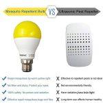 Greenic LED Jaune Bug ampoule 9W (remplace 60W), lumière anti-moustiques pour intérieur ou extérieur Jardin Garage Ferme, 800LM, 2-pack Moderne B22 de la marque Greenic image 1 produit