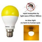 Greenic LED Jaune Bug ampoule 9W (remplace 60W), lumière anti-moustiques pour intérieur ou extérieur Jardin Garage Ferme, 800LM, 2-pack Moderne B22 de la marque Greenic image 2 produit
