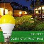 Greenic LED Jaune Bug ampoule 9W (remplace 60W), lumière anti-moustiques pour intérieur ou extérieur Jardin Garage Ferme, 800LM, 2-pack Moderne B22 de la marque Greenic image 4 produit