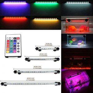 GreenSun 28CM Aquarium Tube Luminaires D'éclairage étanche IP68 Fish Tank RGB 16 Couleur Lumière Submersible de la marque Neverland image 0 produit