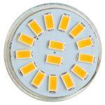 GreenSun 3W MR11 GU4 LED Ampoule Spot Lampe 15 x 5733 SMDs Bulb Blanc Chaud AC/DC 12-30V 240 Lumen 2700K Non Dimmable Pack de 10 Unités de la marque GreenSun image 2 produit