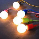 GreenSun 8 Couleur E27 Lustre Suspension Adaptateur De Douille En Silicone avec Fil Colorés Eclairage de Plafond Pour L'ampoule LED Moderne Ou Rétro 1M Corde de la marque GreenSun image 2 produit