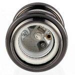 GreenSun LED Lighting 10x Lustre Edison E27 Adaptateur De Douille Vintage Pour L'ampoule LED Rétro Cuivre Céramique à L'intérieur 110-220V Noir de la marque GreenSun LED Lighting image 3 produit