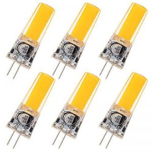 GRV Ampoules de rechange G4.2COB 25084W DC12~ 24V Lumière à LED en silicone de 35 W, blanc froid, lot de 2, blanc chaud, g4, 4.00W 12.00V de la marque GRV image 0 produit