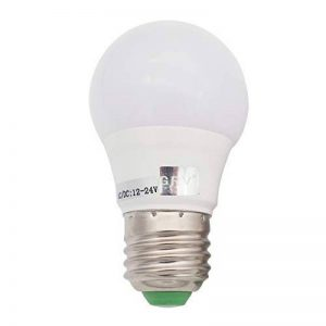 GRV E276–5730SMD LED Globe suffit Lampe AC/DC 12V ~ 24V 3W Ampoule LED haute qualité en plastique thermique, Blanc chaud, e27, 3.00 W de la marque GRV image 0 produit