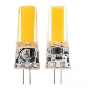 GRV G4COB 25085W DC12~ 24V Cabinet LED Coque en silicone Cristal de lumière halogène de 40W Track ampoule de remplacement, blanc chaud, g4, 5.00 wattsW 12.00 voltsV de la marque GRV image 0 produit