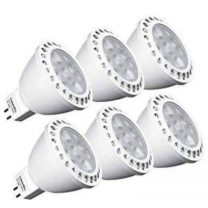 GU 5.3 ampoules LED 12V, LuminWiz 5W MR16 spots LED, 35W Ampoules Halogènes équivalent, 350Lm, 36° angle de Faisceau, 3000K blanc, 6-Pack de la marque LuminWiz image 0 produit