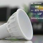 Gu10 5W SMD Ampoules LED,35-50W Halogène GU10 Ampoules Equivalent, éclairage encastré, Projecteur, AC85-265V 4000K Blanc Naturel Non Dimmable réglable gradable RA85, AC240V 450LM,120°Larges Faisceaux,Lot de 10. de la marque Uplight image 1 produit