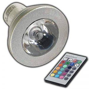 GU10 rVB lED-couleurs changeantes-avec télécommande - 4 w farblicht lampe projecteur spot ampoule lampe à incandescence de la marque PB-Versand image 0 produit