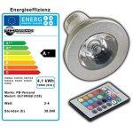 GU10 rVB lED-couleurs changeantes-avec télécommande - 4 w farblicht lampe projecteur spot ampoule lampe à incandescence de la marque PB-Versand image 3 produit