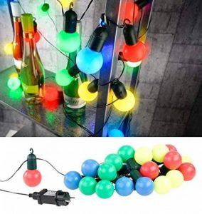 Guirlande guinguette 4,75 m 20 ampoules LED 1W - 4 couleurs de la marque Lunartec image 0 produit