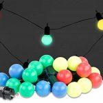 Guirlande guinguette 4,75 m 20 ampoules LED 1W - 4 couleurs de la marque Lunartec image 1 produit
