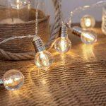 Guirlande Lumineuse 10 Mini Ampoules Rondes Transparentes à LED 1,50 Mètre Minuteur à Piles de la marque Festive Lights image 1 produit