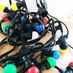 Guirlande Lumineuse extérieure 10m + 20 ampoules LED B22 couleurs chainable. de la marque Revenergie image 1 produit