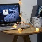 Guirlande Lumineuse LED 10 Mini Ampoules Rondes Finition Culot Or Rose à Piles - avec Minuteur On/Off Auto - 1,50 Mètre de la marque Festive Lights image 3 produit