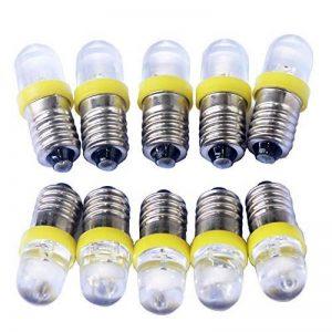 GutReise 10pcs E10 6V Jaune Spot Ampoule LED Lampes + 10pcs E10 Base 0.25W de la marque GutReise image 0 produit