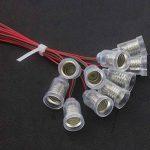 GutReise 10PCS E10 Lampes Base E10 LED Montage à Visser Petites Ampoules Titulaire E10 Lumière Base Douille avec Douille de Fil pour Circuit d'Expérimentation Home Test Électrique Accessoires de la marque GutReise image 1 produit