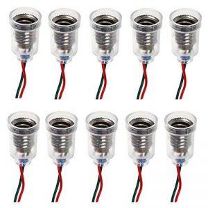 GutReise 10PCS E10 Lampes Base E10 LED Montage à Visser Petites Ampoules Titulaire E10 Lumière Base Douille avec Douille de Fil pour Circuit d'Expérimentation Home Test Électrique Accessoires de la marque GutReise image 0 produit