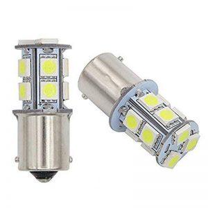 GutReise 2 pcs AC12V 24V B15/BA15S LED Lampes Ampoules Lumière 13LED 5050 Blanc Chaud Froid blanc Rouge Bleu Vert Jaune (12V, Cold white) de la marque GutReise image 0 produit