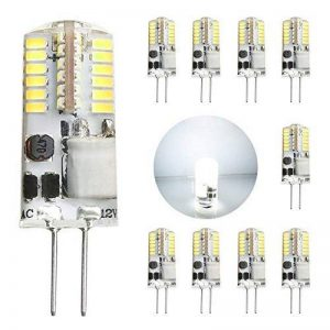 GVOREE 10x Ampoules G4 LED AC/DC 12V 2.5W (équivalent Ampoules Halogènes 20W), 180 Lumens, Angle de faisceau à 360 °, Blanc Froid 6000K, Non Dimmable,Ampoule à Led en Silicone (Blanc Froid 6000K) de la marque GVOREE image 0 produit