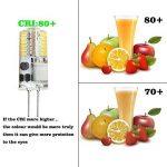 GVOREE 10x Ampoules G4 LED AC/DC 12V 2.5W (équivalent Ampoules Halogènes 20W), 180 Lumens, Angle de faisceau à 360 °, Blanc Froid 6000K, Non Dimmable,Ampoule à Led en Silicone (Blanc Froid 6000K) de la marque GVOREE image 3 produit