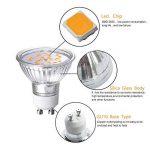 GVOREE 4W GU10 Lot de 10 LED Blanches Chaudes 3000K, 400lm,AC 220V-240V,Équivalente à Incandescence 40W, 120° Larges Faisceaux,Ampoule LED GU10,Spot Light Lampe de la marque GVOREE image 4 produit