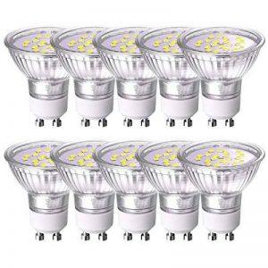 GVOREE GU10 Ampoules LED Cool White 4W (Remplacer 40W Halogène) Track Lighting Spot Encastré Daylight GU10 Ampoules 6000K Non Dimmable AC 220V Pack de 10 [Classe énergétique A +] de la marque GVOREE image 0 produit