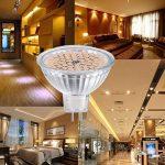 GVOREE MR16 Ampoules LED Spot,AC DC12 Volts, 5W 400lm, 50W Ampoules Halogènes Equivalentes, 2700K Blanches Chaudes, Ampoules LED MR16 GU5.3, 120 °Angle d'éclairage, Non-Dimmable, Lot de 10 de la marque GVOREE image 2 produit