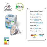 GVOREE MR16 Ampoules LED Spot,AC DC12 Volts, 5W 400lm, 50W Ampoules Halogènes Equivalentes, 2700K Blanches Chaudes, Ampoules LED MR16 GU5.3, 120 °Angle d'éclairage, Non-Dimmable, Lot de 10 de la marque GVOREE image 3 produit