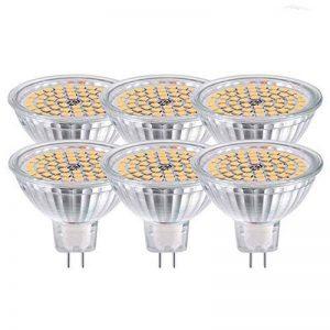 GVOREE MR16 Ampoules LED Spot,AC DC12 Volts, 5W 400lm, 50W Ampoules Halogènes Equivalentes, 2700K Blanches Chaudes, Ampoules LED MR16 GU5.3, 120 °Angle d'éclairage, Non-Dimmable, Lot de 10 de la marque GVOREE image 0 produit