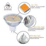 GVOREE MR16 Ampoules LED Spot,AC DC12 Volts, 5W 400lm, 50W Ampoules Halogènes Equivalentes, 2700K Blanches Chaudes, Ampoules LED MR16 GU5.3, 120 °Angle d'éclairage, Non-Dimmable, Lot de 10 de la marque GVOREE image 4 produit