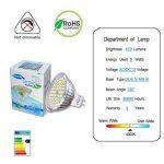 GVOREE MR16 Ampoules LED Spot,AC DC12 Volts, 5W 410lm, 50W Ampoules Halogènes Equivalentes, 4000K Blanc Neutre, Ampoules LED MR16 GU5.3, 120 °Angle d'éclairage, Non-Dimmable, Lot de 10 de la marque GVOREE image 1 produit