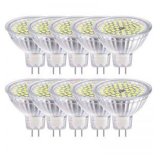 GVOREE MR16 Ampoules LED Spot,AC DC12 Volts, 5W 410lm, 50W Ampoules Halogènes Equivalentes, 4000K Blanc Neutre, Ampoules LED MR16 GU5.3, 120 °Angle d'éclairage, Non-Dimmable, Lot de 10 de la marque GVOREE image 0 produit