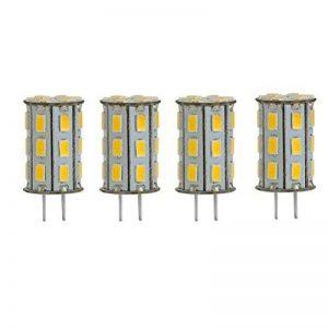 GY6.35 Ampoules LED 5W, Equivalent d'Ampoules Halogenes de 35W, 500lm Blanc Chaud 3000K, Destinees a une lampe de bureau, paquet de 4 unites de la marque ZSZT image 0 produit