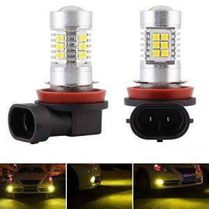 H4/HB2/9003 Led Ampoules Antibrouillard 660LM 3000K Jaune avec SMD 3030 Led Chips DC 12V-24V Lampe de Brouillard -1 An de Garantie (Lot de 2) de la marque Diesel AutoZone image 0 produit