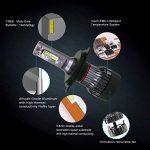 H4/HB2/9003 Led Ampoules de Phare 10000LM 60W 6500K Blanc avec CREE Chips Diesel Auto Zone Fan Amovible Kit de Conversion d'ampoules, remplacement pour 12v 55w ampoules halogènes - 1 An de Garantie de la marque Diesel AutoZone image 2 produit