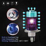 H4 Led Moto Ampoules Kit- Win Power- H4 LED Ampoule Moto Phare Hi / Lo Faisceau, Xenon Blanc 6000K 4000Lm Super Lumineux DC 12V / DC 24V, 1 Pc de la marque Winpower image 3 produit