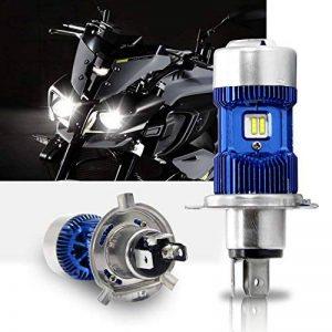 H4 Led Moto Ampoules Kit- Win Power- H4 LED Ampoule Moto Phare Hi / Lo Faisceau, Xenon Blanc 6000K 4000Lm Super Lumineux DC 12V / DC 24V, 1 Pc de la marque Winpower image 0 produit