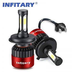 H4 LED Phare Ampoules Voiture Auto COB Lampe 72W 6500K 8000LM Super Bright de la marque Infitary image 0 produit