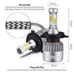 H4 LED Phare Ampoules Voiture Auto COB Lampe 72W 6500K 8000LM Super Bright de la marque Infitary image 2 produit