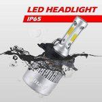H4 LED Phare Ampoules Voiture Auto COB Lampe 72W 6500K 8000LM Super Bright de la marque Infitary image 4 produit