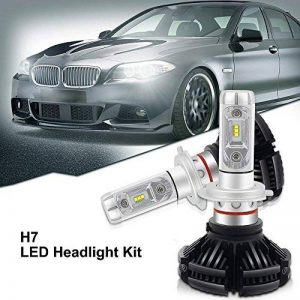 H7 LED, 12000LM X3 Version Super Bright Haute Puissance Philip-Zes Chips LED Headlight Phare Avant Conversion Kit DIY 3 Couleurs Or Blanc Ice Blue Fit 3000 K / 6000K / 8500K (1 paire) de la marque Suparee image 0 produit