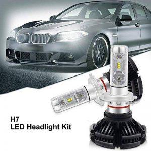 H7 LED, 12000LM X3 Version Super Bright Haute Puissance Philip-Zes Chips LED Headlight Phare Avant Conversion Kit DIY 3 Couleurs Or Blanc Ice Blue Fit 3000 K / 6000K / 8500K (1 paire) de la marque Suparee image 0 produit
