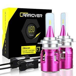 H7 LED Ampoules Phares pour Voiture, Feux Avants Auto 10800LM 6000K de la marque Car Rover image 0 produit