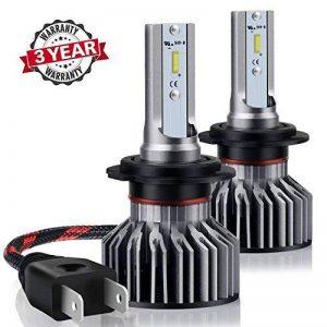 H7LED de voiture ampoules de phare kit–Wakana 7200lm H7CSP Puce kit de phare LED de voiture ampoules Auto LED kit de conversion 12V 3ans de garantie Remplacement pour halogène lumières ou ampoules HID S6-h7 de la marque Wakana image 0 produit
