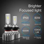 H7LED de voiture ampoules de phare kit–Wakana 7200lm H7CSP Puce kit de phare LED de voiture ampoules Auto LED kit de conversion 12V 3ans de garantie Remplacement pour halogène lumières ou ampoules HID S6-h7 de la marque Wakana image 1 produit